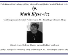 śp. Maria Kłysewicz